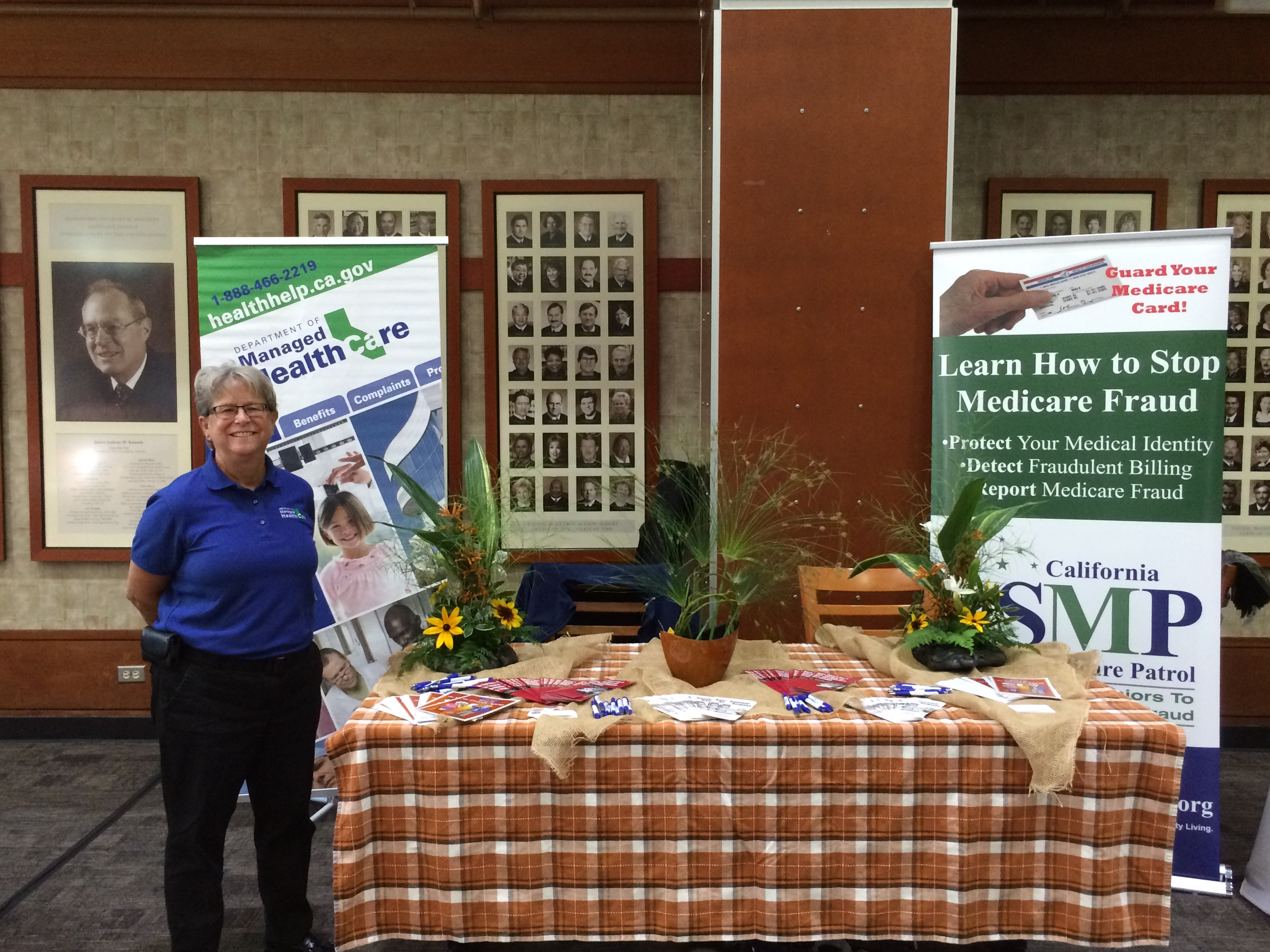 Julie Lowrie, Investigator with CA Dept of Managed Health Care and one of our stellar partners, supports SMP at a recent McGeorge School of Law event in Sacramento.