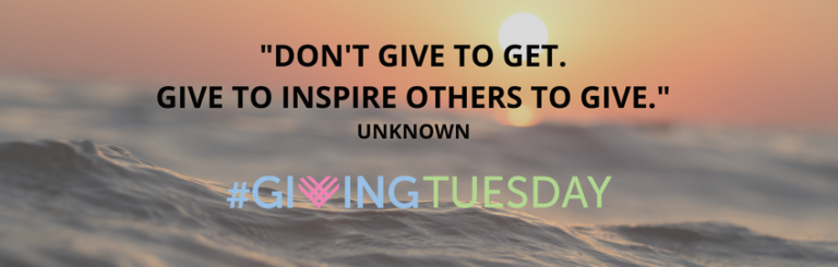 Spread Smiles & Good Feelings ~ Join Us on #GivingTuesday to Give Back