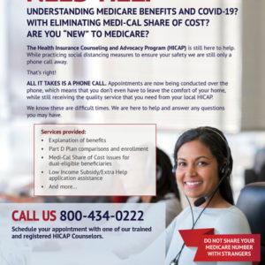 Need Help Understanding Medicare Benefits & COVID-19? HICAP Is Here to Help