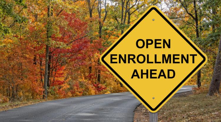 Open Enrollment Caution Sign